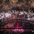 新年快乐!- 观悉尼烟花记